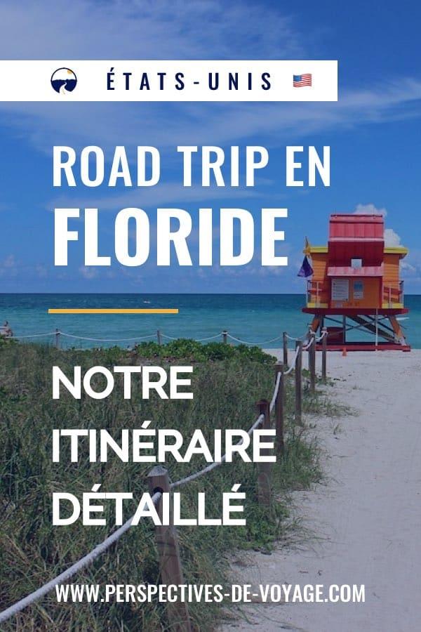 Itinéraire de notre road trip en Floride