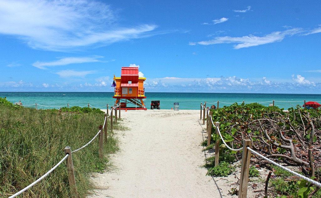 Plage à Miami Beach