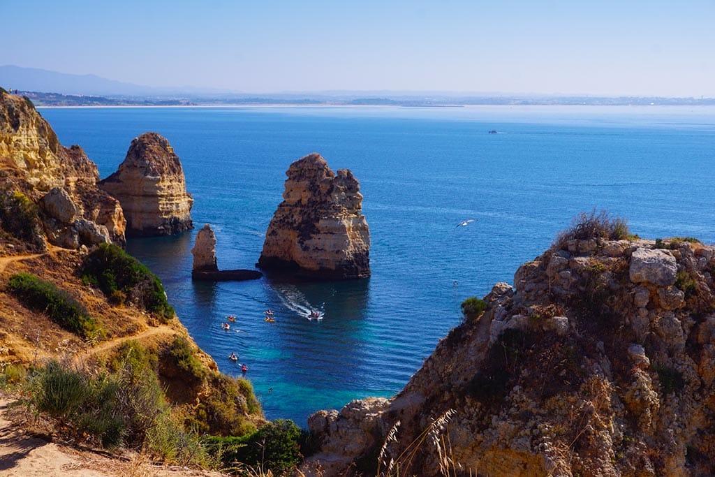 Photographie des falaises et de la mer en Algarve