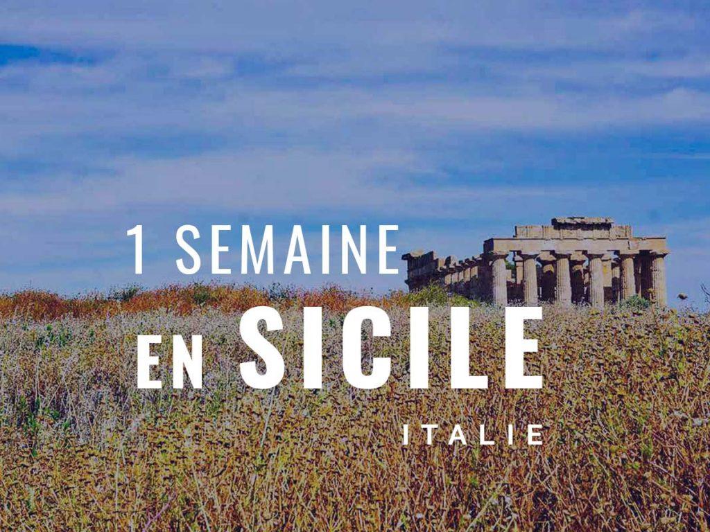 itinéraire une semaine en Sicile