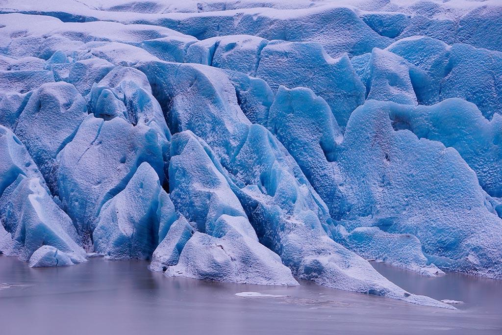 Svínafellsjökull, glacier en Islande