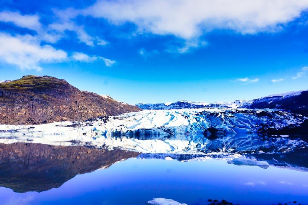La langue glaciaire de Sólheimajökull