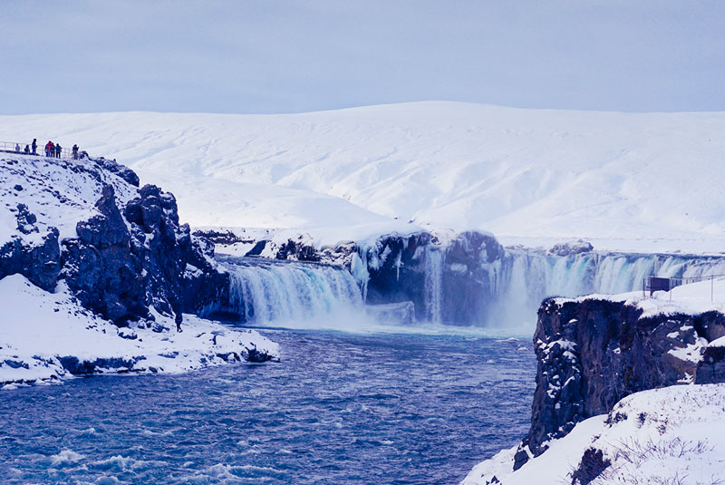 Godafoss au nord de l'Islande