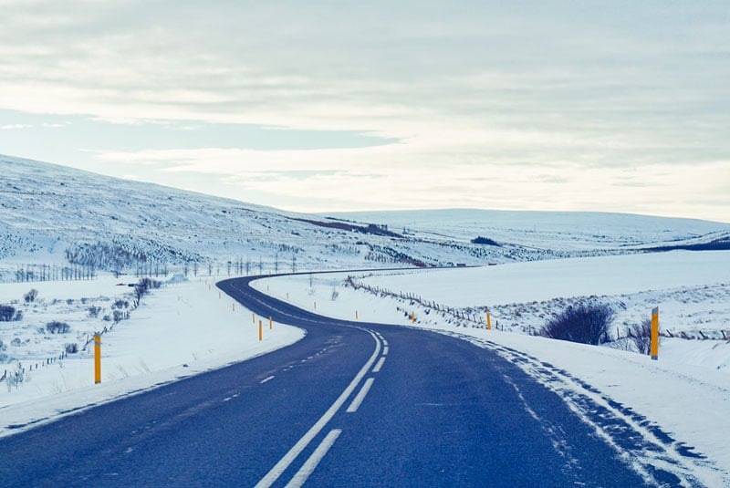 Route au nord de l'Islande