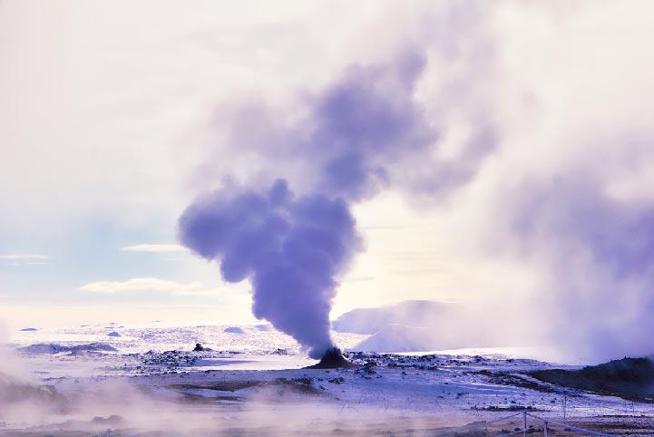 Hverir lac Mývatn