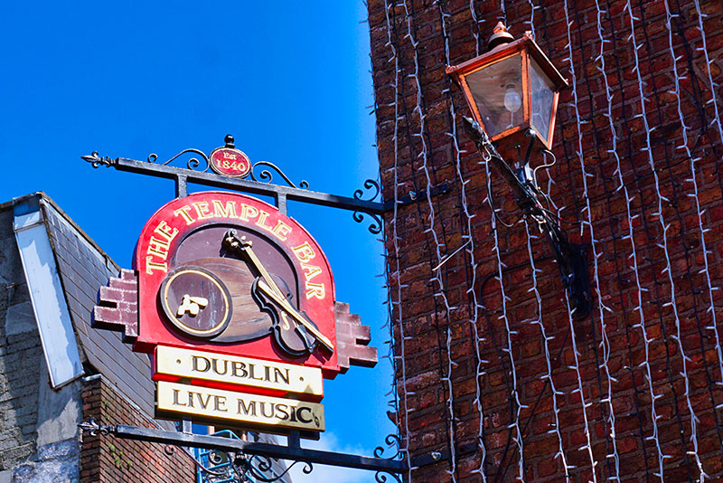 Temple Bar, Dublin Irlande