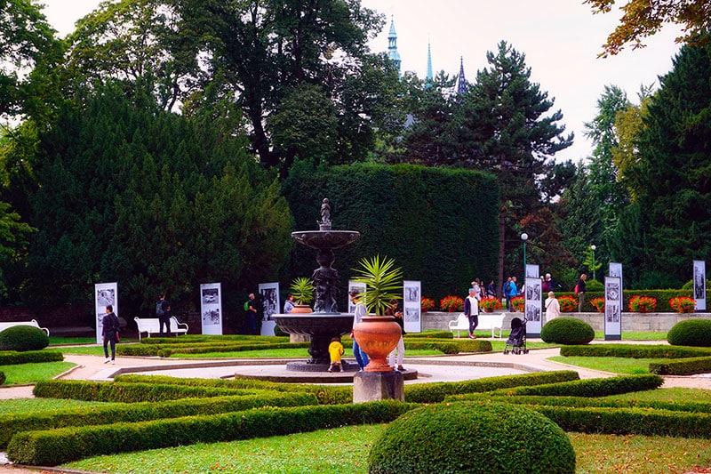 Le Jardin royal du château de Prague