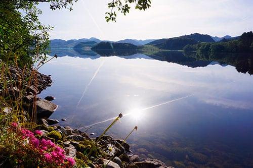 Route entre Stavanger et Lysebotn en Norvège