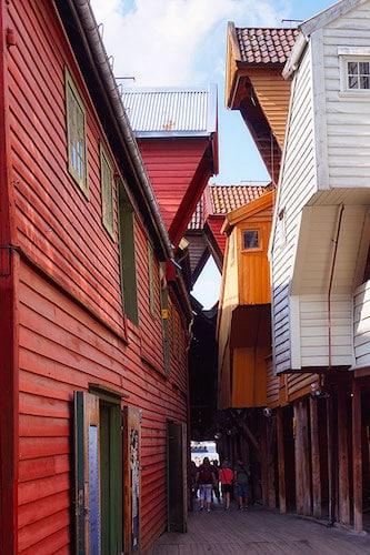 Les ruelles de Bryggen
