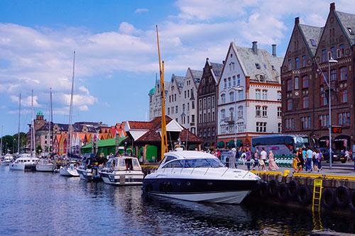 Les quais de Bergen, en Norvège