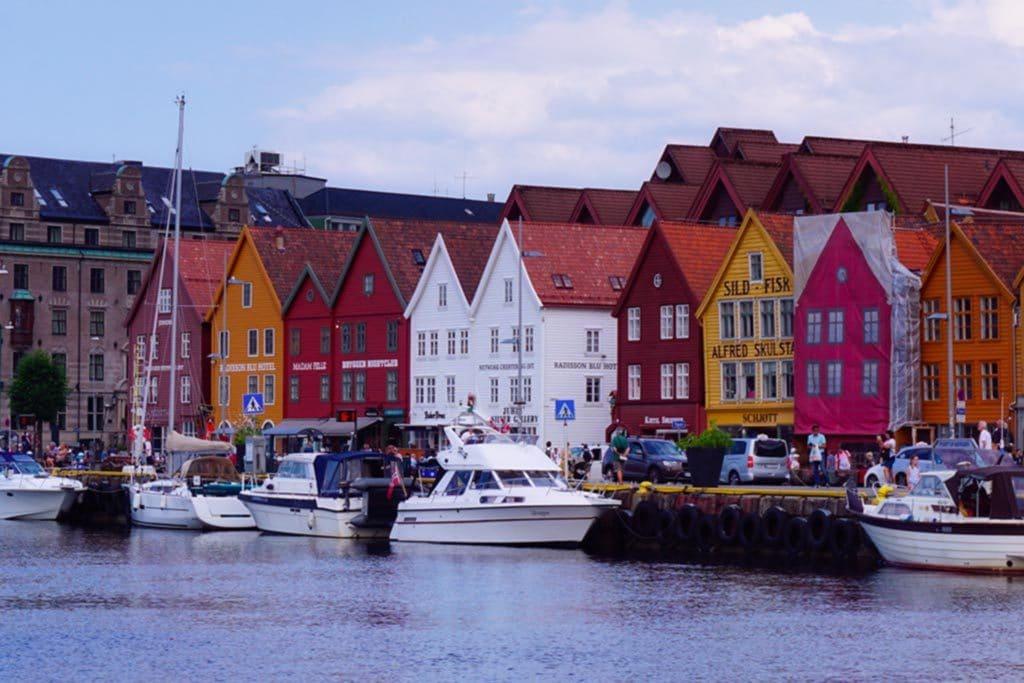 Les quais de Bryggen à Bergen