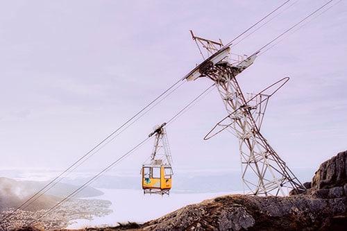 Le téléphérique du mont Ulriken à Bergen