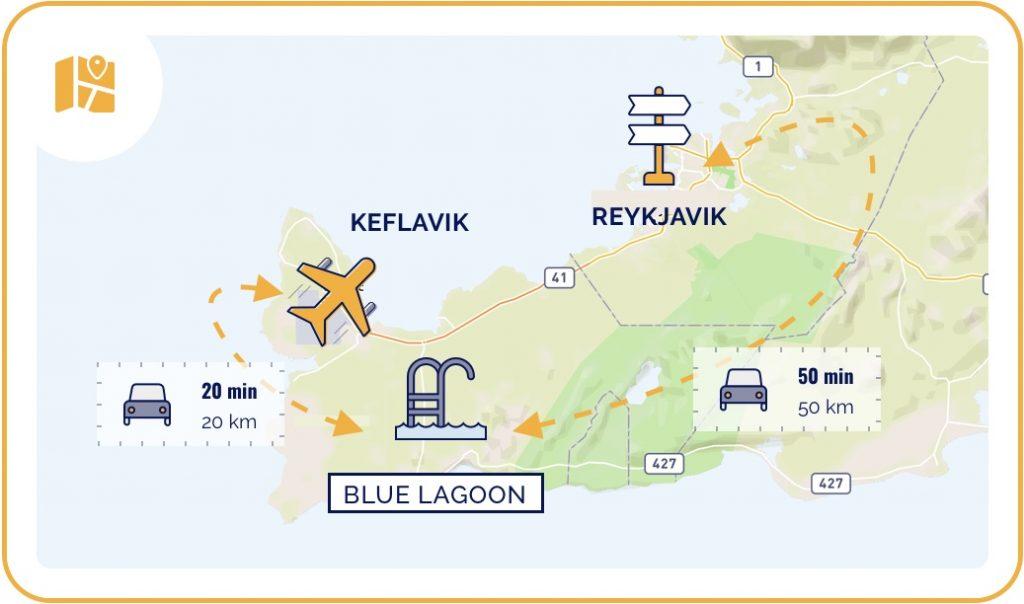 Carte du Blue Lagoon en Islande