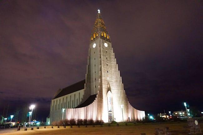 Hallgrímskirkja à Reykjavik en Islande