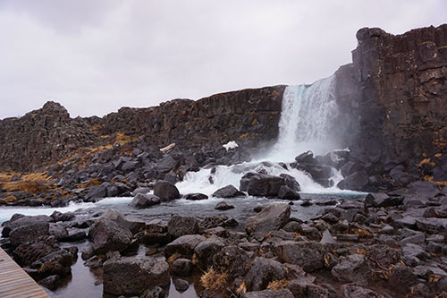 Oxararfoss, dans le parc national du Thingvellir