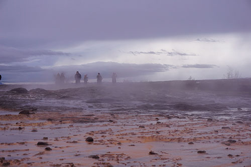 Le site géothermique de Geysir en Islande