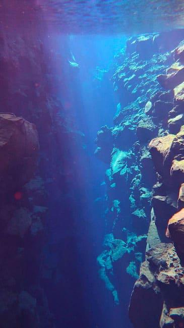 Snorkeling dans la faille de Silfra en islande