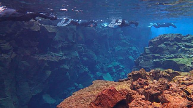 Snorkeling en Islande