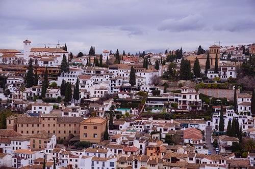 Vue sur Grenade depuis l'Alhambra