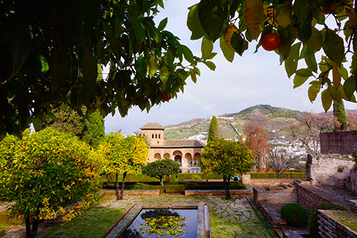 Les jardins de l'Alhambra à Grenade
