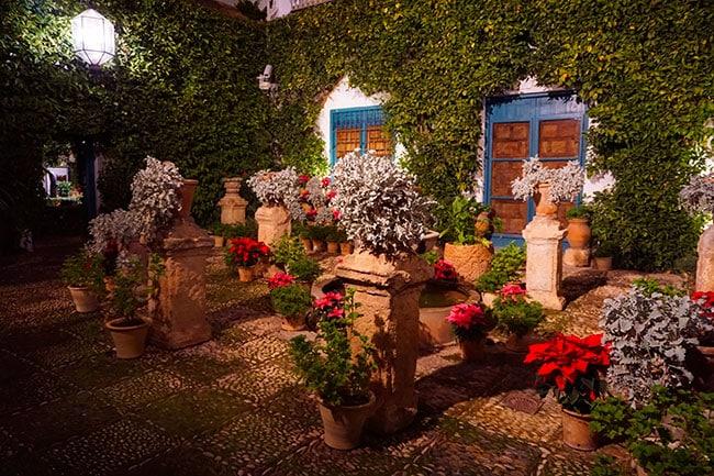 Un patio a Cordoue, Andalousie