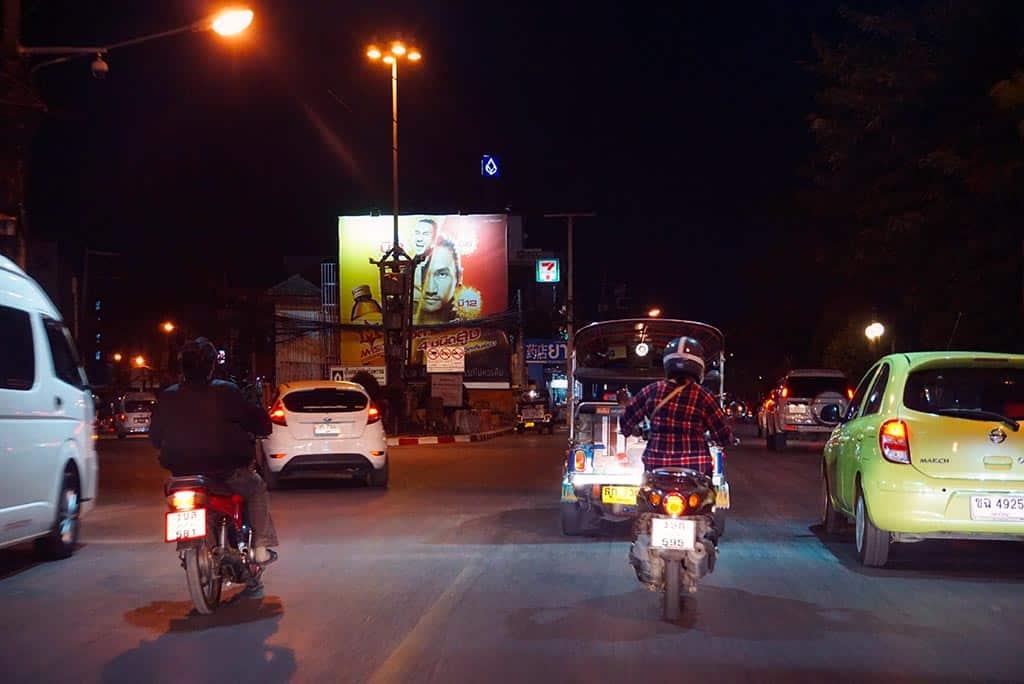 La circulation à Chiang Mai, dans le nord de la Thaïlande