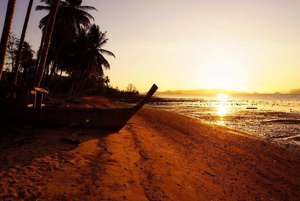 Coucher de soleil à Koh Yao Noi en Thailande