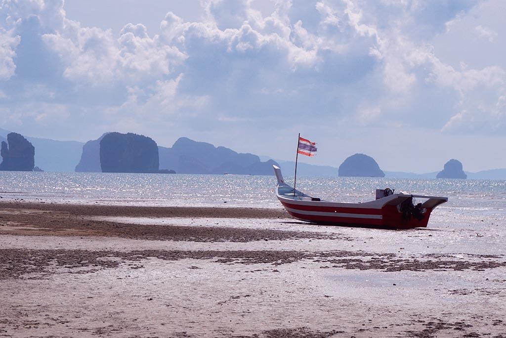 Long tail boat à Koh Yao Noi en Thaïlande