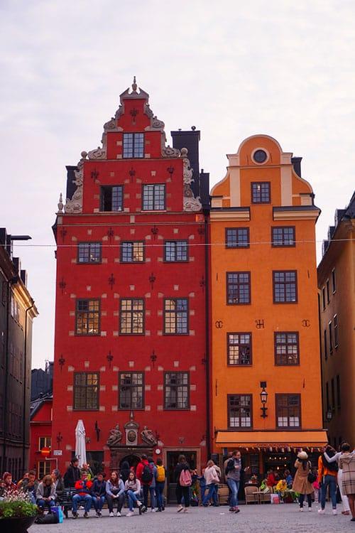 Les maisons colorées de Gamla Stan