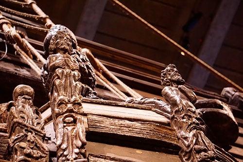 Détails du Vasa, Stockholm