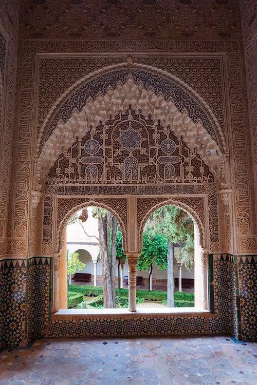 Les décors du palais de l'Alhambra à Grenade