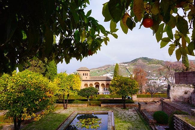 El partal, les jardins du palais de l'Alhambra de Grenade
