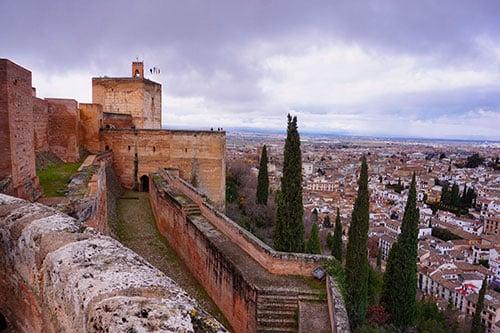Alcazaba, la forteresse du Palais de l'Alhambra de Grenade