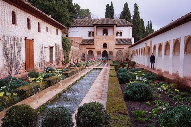 Le Generalife, au Palais de l'Alhambra de Grenade
