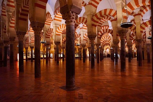 La mosquée cathédrale de Cordoue en Andalousie