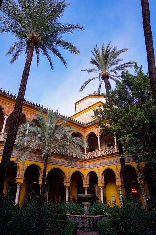 Le Palais de las Duenas à Séville, en Andalousie