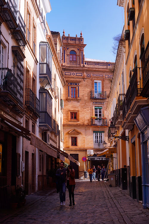 Le quartier de Santa Cruz à Séville, en Andalousie
