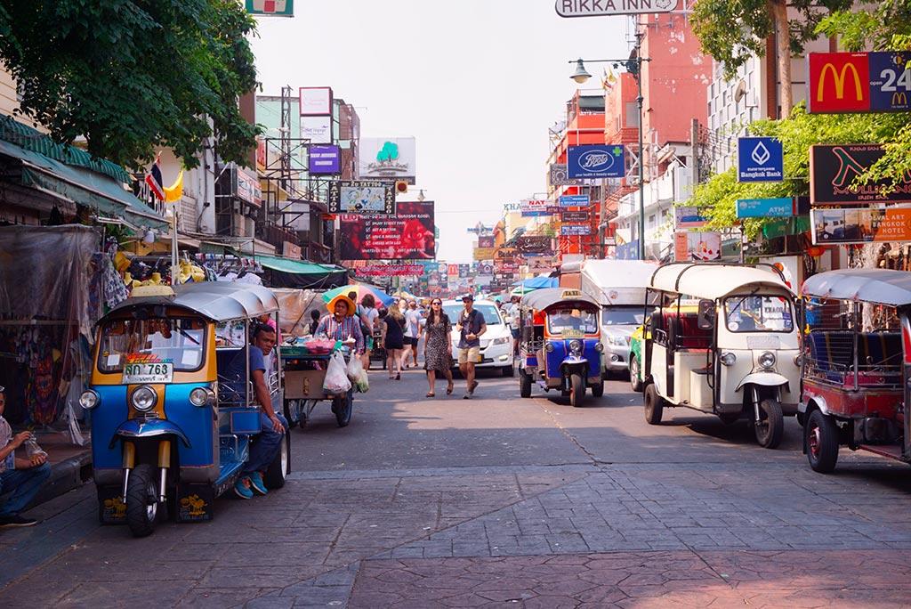 Les tuk tuk de Bangkok en Thaïlande