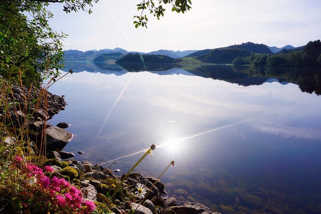 La route jusqu'à Lysefjord pendant notre road trip en Norvège