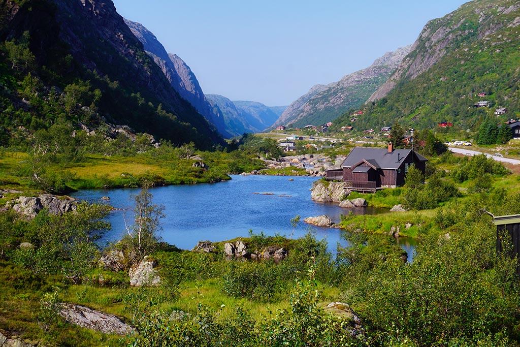 La route jusqu'à Lysebotn en Norvege
