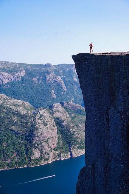 Randonnée du Preikestolen en Norvege