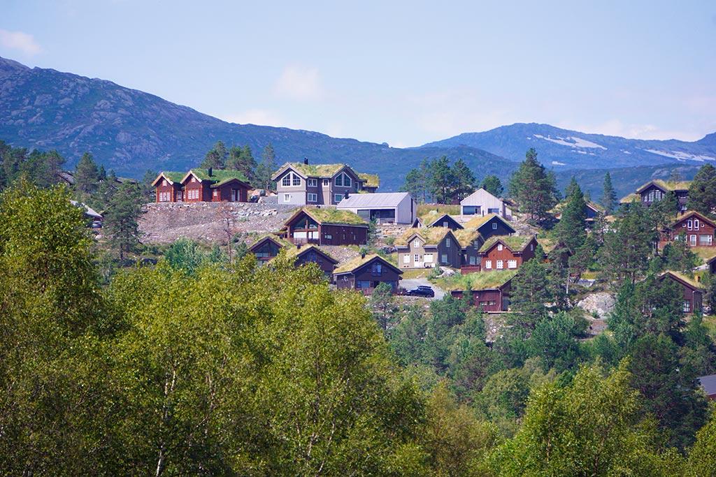 Maisons traditionnelles en Norvege