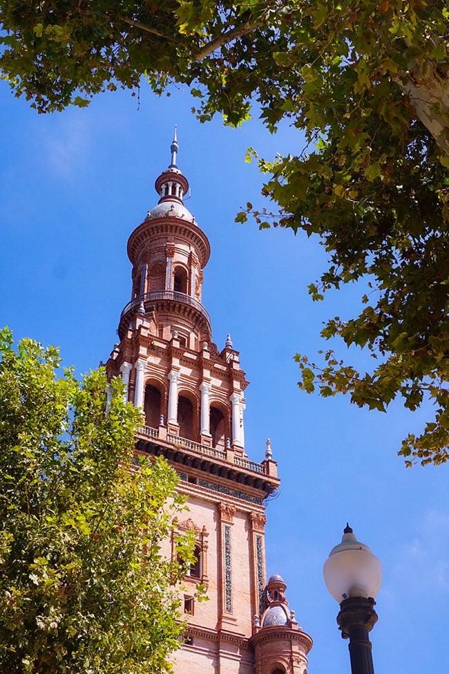 La place d'Espagne à Séville en Andalousie