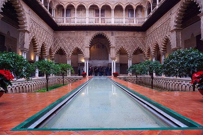 L'Alcazar de Seville en Espagne