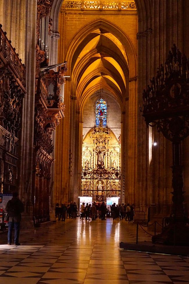 La cathédrale de Séville en Andalousie