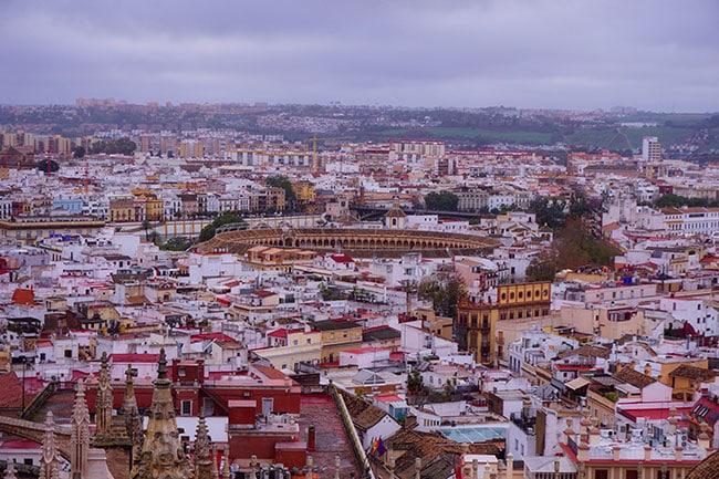 Les arènes de Séville en Espagne