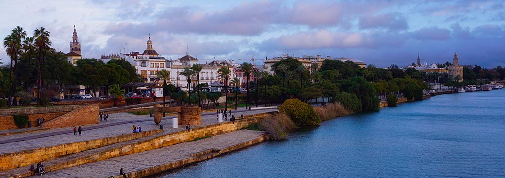 Les rives du Guadalquivir à Séville