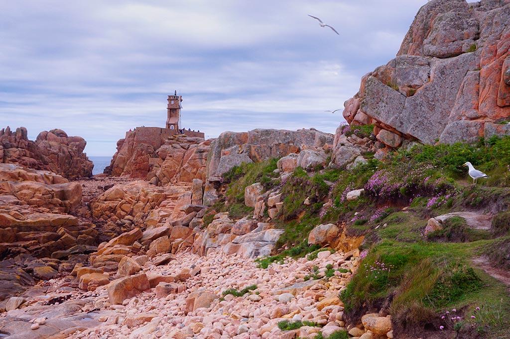 Le Phare du paon sur l'île de Bréhat en Bretagne