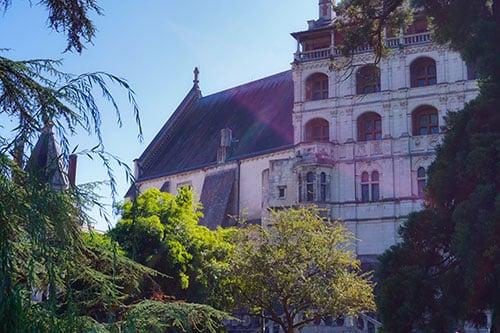 Façade des loges du château de Blois