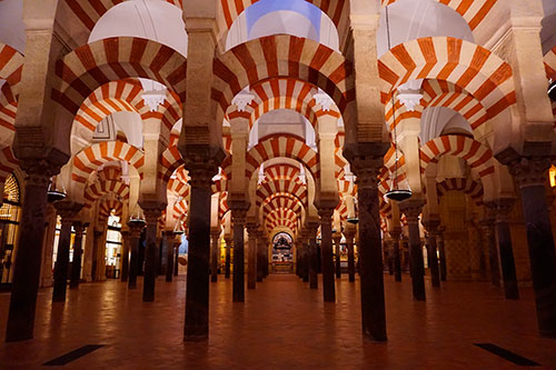 Photographie des voutes de la mosquee cathedrale de Cordoue